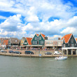 In the port of Volendam. Netherlands - Stock Photo
