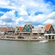In the port of Volendam. Netherlands — Stock Photo