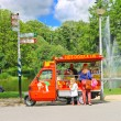 Snack cart in city park in Amsterdam. Netherlands — Stock Photo