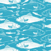 Peces de fondo transparente — Vector de stock