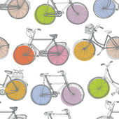 Vintage colorful bicycle background — Stock Vector