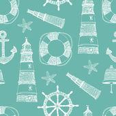 Sea blue seamless background — Stock Vector