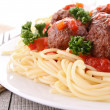 Spaghetti and meatball — Stock Photo #10879851