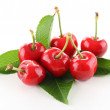 Heap of cherry and leaf — Stockfoto