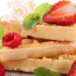 Waffle and strawberry — Stock Photo #10944675