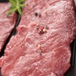 Raw beefsteak — Stock Photo