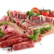 Assortment of raw meats — Stock Photo #11108445