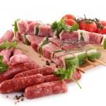 Assortment of raw meats — Stock Photo