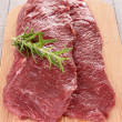Foto Stock: Raw beefsteak