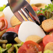 Stock Photo: Vegetables salad and fork
