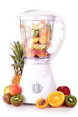 Blender with fruits — Stock Photo