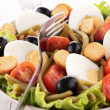 Stock Photo: Mixed salad and fork
