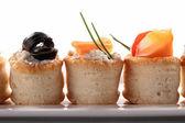 Aperitivo de canapés, buffet de comida — Foto Stock