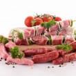 Stock Photo: Assortment of raw meats