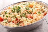 Couscous salad with vegetables — Stock Photo