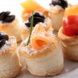 Buffet food, canape — Stock Photo