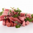 Assortment of raw meats — Stock Photo #11520377