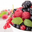 Bowl of berries - Stock Photo