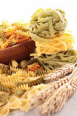 Assortment of raw pasta — Stock Photo