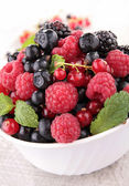 Bowl of berries fruits — Stock Photo