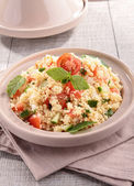 Couscous with vegetables — Stock Photo
