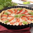 Tomato,cheese and basil tart — Stock Photo #11606333