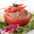 Stuffed tomato with beef — Stock Photo