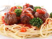 Spaghetti and meaball — Stock Photo