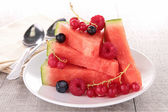 Watermelon and berries — Stock Photo