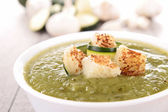 Vegetable soup with crouton — Stock Photo