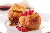 Gourmet baked apple — Stock Photo