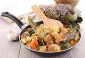 Casserole with cooked ratatouille — Stock Photo