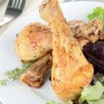 Grilled drumsticks chicken — Stock Photo