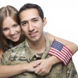 Military Husband and Wife hugging — Stock Photo #11023808