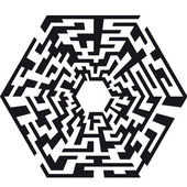 Hexaeder maze — Stock Vector