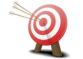 Target with arrows — Stock Vector
