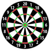 Dart board — Stock Vector