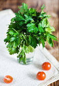 Parsley in the glass — Stock Photo