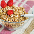 Stock Photo: Muesli with strawberry