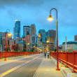 Downtown Minneapolis, Minnesota at night time — Stockfoto