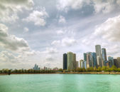 Downtown Chicago, IL in the sunny day — Stock Photo