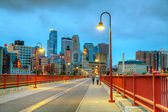 Downtown Minneapolis, Minnesota at night time — Stock Photo