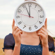 Female holds watches — Stock Photo