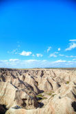 Scenic view at Badlands National Park, South Dakota, USA — Stock Photo