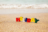 Wooden colorful word 'Holiday' — ストック写真