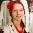 Teen girl wearing Ukrainian costume — Stock Photo