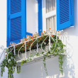 Stock Photo: Blue vintage windows