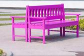 Pink street chair — Stock Photo
