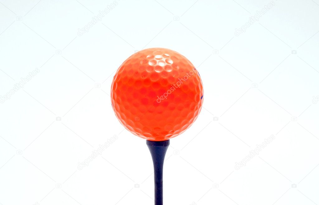 Orange golf ball on white background — Stock Photo #11530166
