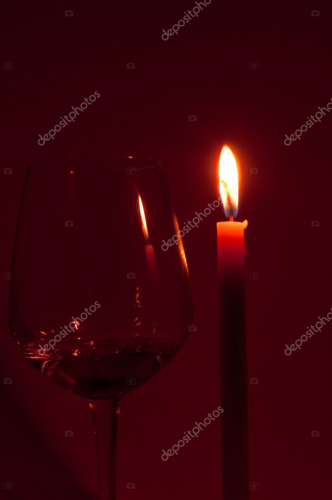 Candle flame in romancetic night  Stock Photo #11840725